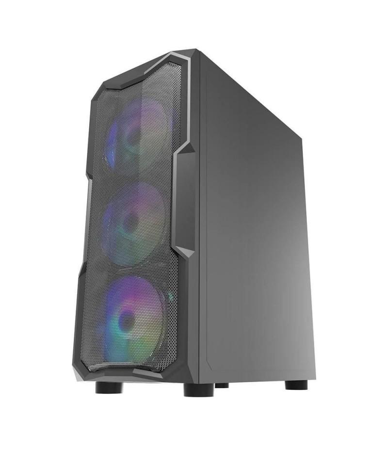 Кутия за настолен компютър Inaza Aquarius Mesh със закалено стъкло