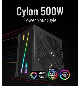 RGB захранващ блок Aerocool Cylon 500W CYLON-500W 80Plus