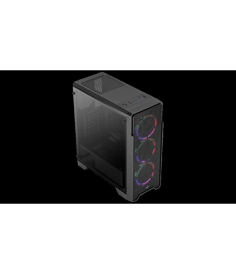 Кутия за настолен компютър Aerocool Ore Saturn FRGB страничен панел от закалено стъкло ATX mid tower