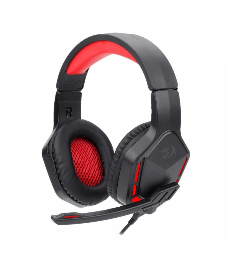 Геймърски слушалки с микрофон Redragon Themis H220-BK с червена LED подсветка