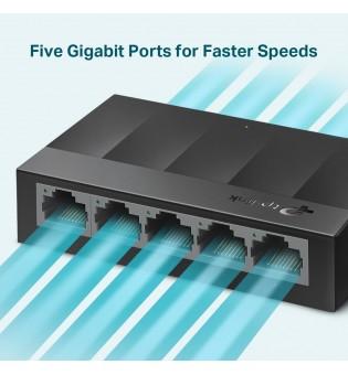 Комутатор TP-Link LS1005G 5-порта 10/100/1000Mbps