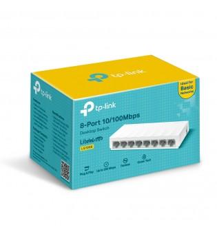 8-портов 10/100 Mbps настолен комутатор TP-Link LS1008