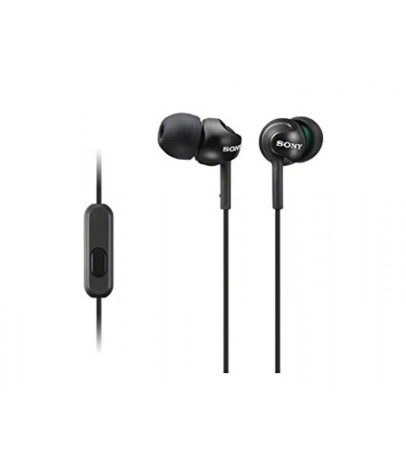 Слушалки Sony handsfree MDR-EX155AP, black MDREX155APB.AE