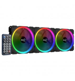 3 бр. aRGB охлаждащи вентилатори за компютърна кутия Aerocool Orbit RC
