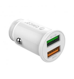 Зарядно за кола Orico UPZ-2U 20W QC 3.0 бяло