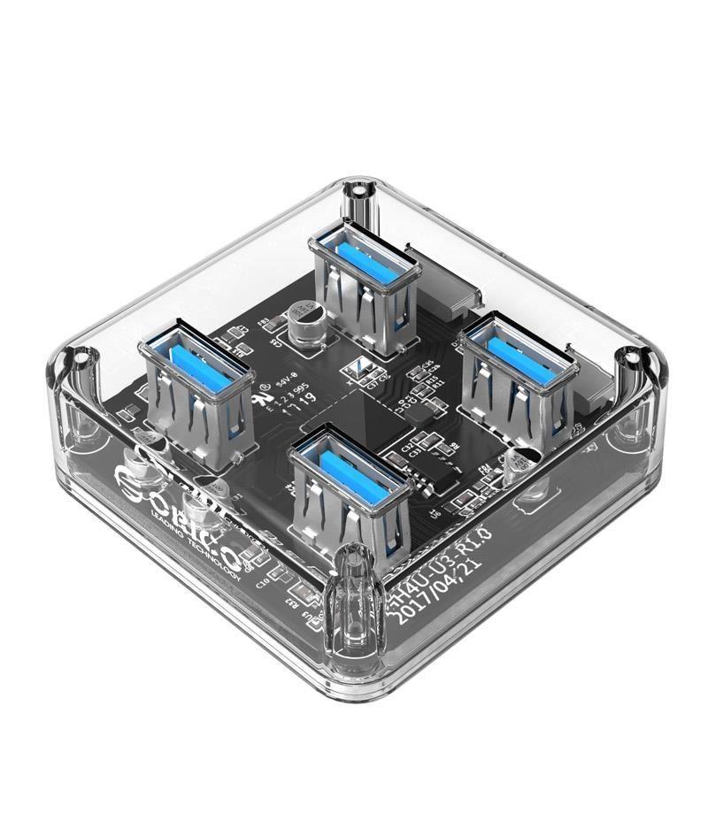 Прозрачен USB хъб Orico MH4U MH4U-U3-03-CR