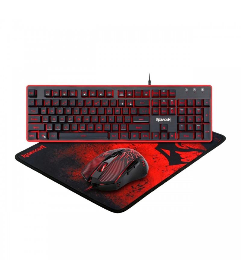 Геймърски комплект Redragon - клавиатура, мишка и подложка S107