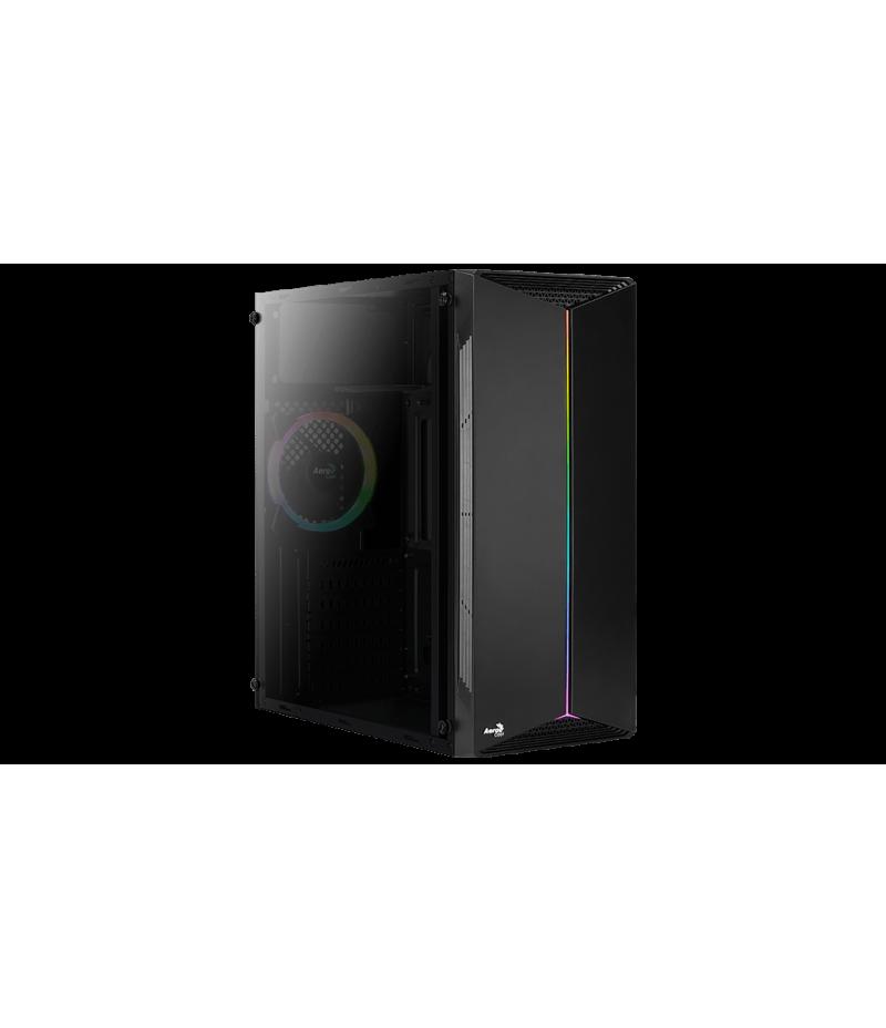 Кутия за настолен компютър Aerocool Split RGB със закалено стъкло SPLIT-A-BK-V1