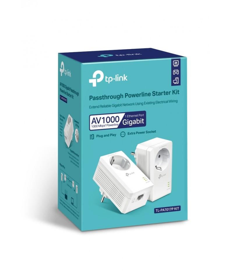 Gigabit Powerline Starter Kit TP-Link TL-PA7017P KIT AV1000