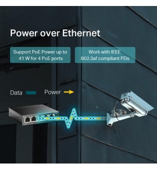 5-портов 10/100 Mbps комутатор TP-Link TL-SF1005LP с 4 PoE порта