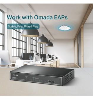 8-портов Desktop комутатор TP-Link TL-SF1008LP с 4-PoE порта