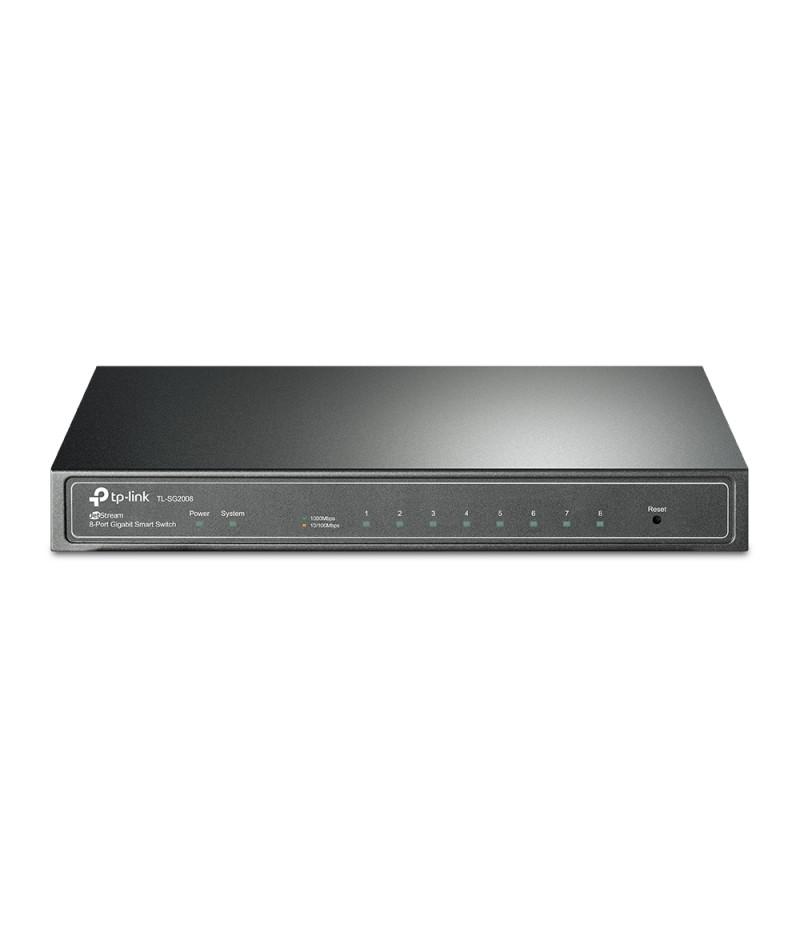 8-портов Gigabit smart комутатор TP-Link JetStream TL-SG2008EU