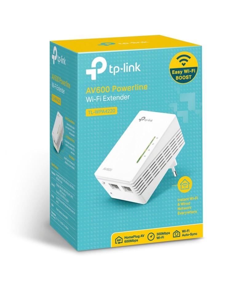 Powerline удължител на обхват TP-Link TL-WPA4220 AV600 300 Mbps