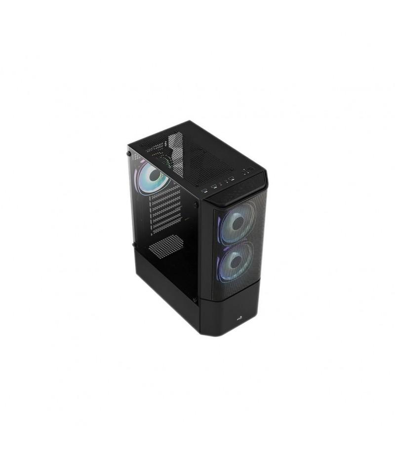 Кутия за настолен компютър AeroCool Quantum Mesh V2 страничен панел от закалено стъкло ATX mid tower