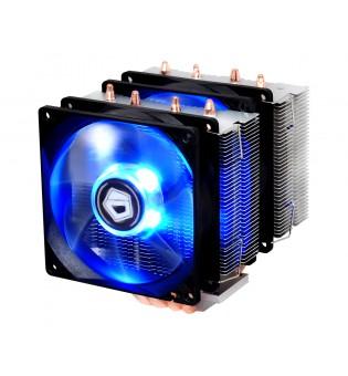 Вентилатор ID Cooling SE-904TWIN за Intel и AMD процесори син LED