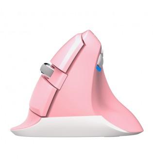 Безжична вертикална мишка Delux M618GX розова