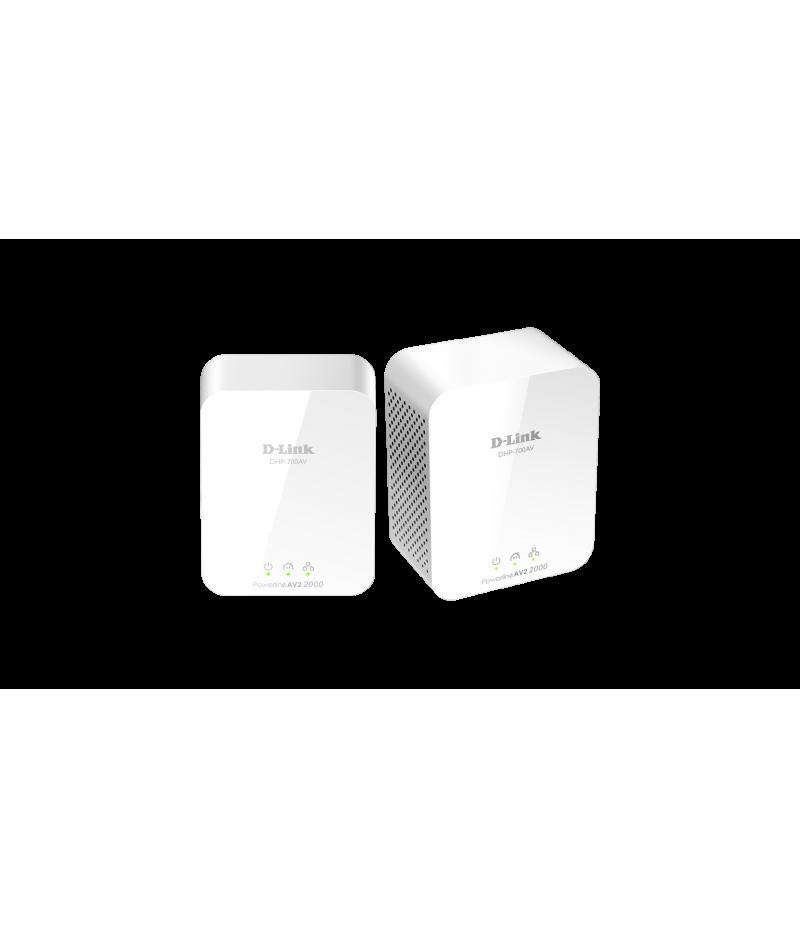 PowerLine AV2 2000 HD гигабитов стартиращ комплект D-Link DHP-701AV/E