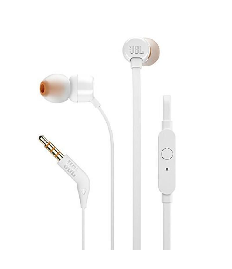 Слушалки JBL T110 WHT In-ear headphones JBLT110WHT