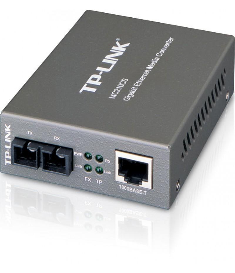 Gigabit еднорежимен медиен конвертор TP-Link MC210CS