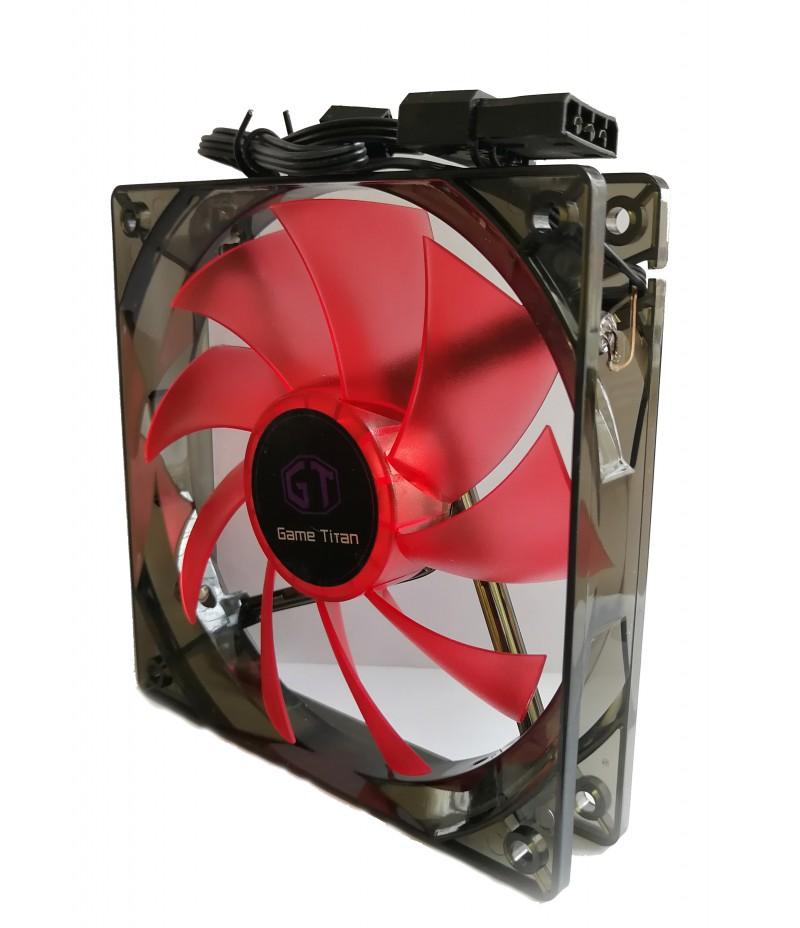 Охладител за кутия DELUX CF4 120 мм RED LED